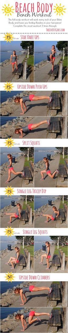 Beach Body Bench Workout ☀ a full body workout that will get you bikini ready in no time!