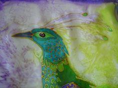 peacock silk painting 004