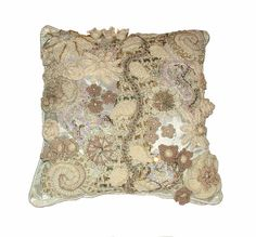 Freeform Crochet Cushion Cover - Winter Flourish - 1 by renatekirkpatrick, via Flickr