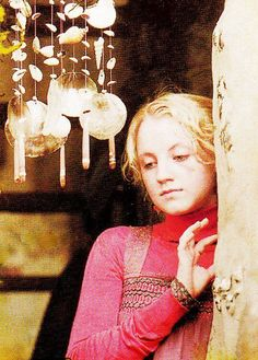 "Luna Lovegood at Shell Cottage in Harry Potter and the Deathly Hallows. ""Muggles think these keep away evil, but they're wrong."""