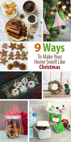 Let the smell of the holidays fill your home with these 9 easy to DIY homemade crafts! From cinnamon stick ornaments to potpourri and scented wax fire starters, you'll want Christmas to last for months! http://www.ehow.com/how_12343065_9-ways-make-home-smell-like-christmas.html?utm_source=pinterest.com&utm_medium=referral&utm_content=curated&utm_campaign=fanpage