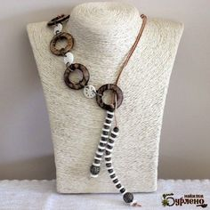 Necklace with tagua and coconut
