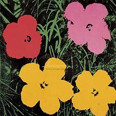 Andy Warhol - Flowers, 1964 (1 red, 1 pink, 2 yellow) - jetzt bestellen auf kunst-fuer-alle.de
