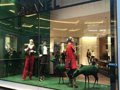 #Chanel #Grren #raindeer #Autum #Winter #Collection #June 2015 at #Mall of the Emirates #Dubai 2015 #REA