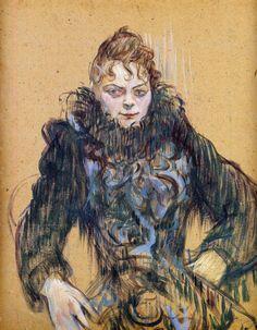 Henri de Toulouse-Lautrec, Woman with Black Feather Boa, 1892 Henri De Toulouse Lautrec, Manet, Renoir, Belle Epoque, Black Feathers, French Artists, Van Gogh, Great Artists, Art History