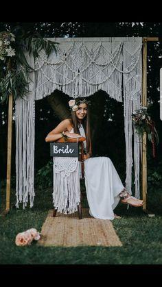Macrame wedding arch made by Little White Attic @little_white_attic (instagram)