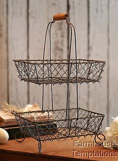 Our Functional Wire Baskets Are A Wire Fruit Basket Perfect For Displaying  Colorful Produce. Use This Tiered Wire Basket As A Simple Yet Pretty Stou2026