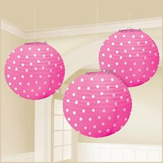 The bright pink lanterns with white polka dots halloween costume is a must have this holiday. The features of the bright pink lanterns with white polka dots. Pink Lanterns, Lanterns Decor, Paper Lanterns, Home Deco, Open A Party, Polka Dot Party, Diy Party Supplies, Pink Paper, White Paper