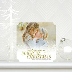Merrily Magical - #Christmas Cards in a bold Dijon Yellow