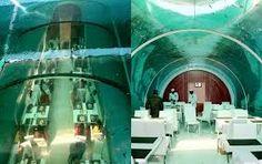 An underwater restaurant in India.