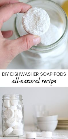 Homemade dishwasher soap pod recipe. All-natural soap pod recipe. Dish soap with essential oils. #diydishsoap