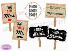 Kids&Babies: Adereços para fotocabine Team Groom, Team Bride, Baby Kids, Party, Wedding, Ideas, Design, Valentines Day Weddings