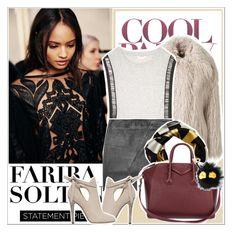"""Fariba Soltani contest"" by anxhela-beluli ❤ liked on Polyvore featuring STELLA McCARTNEY, sass & bide, Lot78, Givenchy, Fendi, Jimmy Choo, scarves, faribasoltani, designerscarves and luxuryscarves"