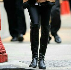 Black Leather Boots!