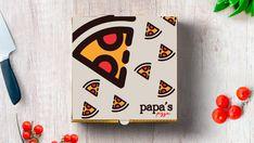 Papa Pizza, Pizza Branding, Branding Design, Brand Design, Branding, Brand Identity Design
