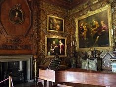 The music room at Chatsworth House. In BLIND FORTUNE, Charles played the piano while sightless Lady Fortuna lay on top of it.