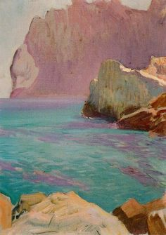 San Vicente cape by Joaquin Sorolla y Bastida - Reproduction Oil Painting Art And Illustration, Landscape Art, Landscape Paintings, Oil Paintings, Oil Painting Techniques, Drawing For Beginners, Spanish Artists, Wow Art, Pics Art