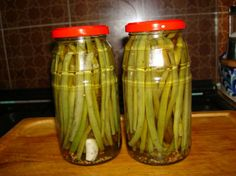 Pickled Green Beans (Dilly Beans) from Food.com:   This recipe was originally my Great Grandmother's I just recently found it in my Mother's stuff after she passed away a few months ago.