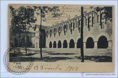 Escuelas Salesianas de Sarrià. Postal, Vista del patio de estudiantes, 1907.