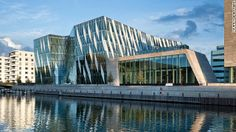 Architect: 3XN Architects.   The Saxo Bank International Headquarters is home to the Danish online investment bank Saxo Bank. Hellerup, Denmark