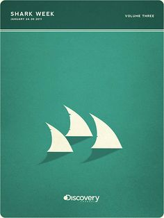 디스커버리채널 Shark Week 포스터 디자인