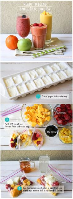 Pre-packed smoothies