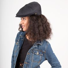 Top off your style with a newsboy hat