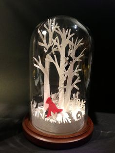 Red Riding Hood Fairytale Glass Dome. £80.00, via Etsy.