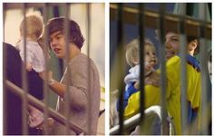 Harry and Louis with Baby Lux