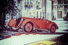 1937 Alfa Romeo 8C 2900A Painting