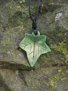 A hand carved sycamore wood from Sherwood forest Ivy pendant