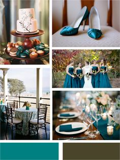 Teal and Brown Inspiration. So elegant. From Aisle Ready