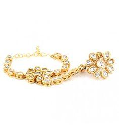 Floral Hand Ring Bracelet