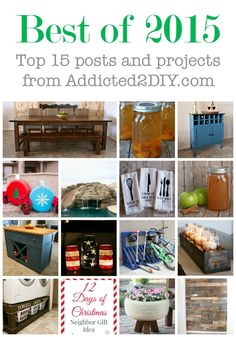 Check out what made the list for the most popular posts in 2015 on Addicted 2 DIY!