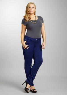 PUZZLE DENIM Plus Skinny Jean