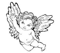 cherub angel tattoo design