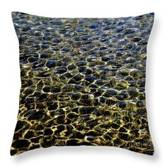 """The Shallows  Throw Pillow by Debbie Oppermann.  Our throw pillows are made from 100% spun polyester poplin fabric and add a stylish statement to any room.  Pillows are available in sizes from 14"""" x 14"""" up to 26"""" x 26"""".  Each pillow is printed on both sides (same image) and includes a concealed zipper and removable insert (if selected) for easy cleaning."""