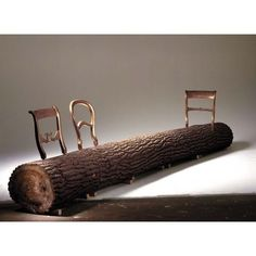 Would You Ever Sit In These Crazy Chairs?  Droog Treetrunk Bench by Jurgen Bey