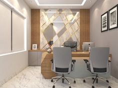 Are you searching for best office interior design in Ahmedabad? Magic Space Design is one of the best office interior designer in Ahmedabad, Gujarat to provide small office interior design at affordable prices. Contact Now! Office Ceiling Design, Office Cabin Design, Cabin Interior Design, Small Office Design, Clinic Interior Design, Office Furniture Design, Clinic Design, Modern Office Decor, Office Interiors