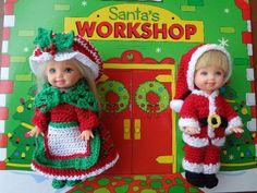 "Handmade Crochet 4 1 2"" Kelly Tommy Doll Christmas Couple | eBay"