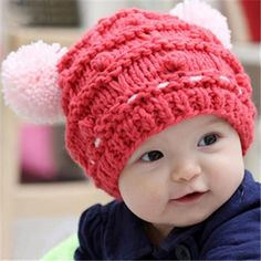 Handmade Two ball Wooly baby s Caps  Cheap Online Sale - HatSells.com 3e078749688