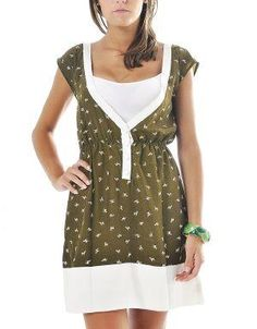 (CLICK IMAGE TWICE FOR DETAILS AND PRICING) Zebra Print V-Neck Dress Olive. Deep V-Neck dress with tiny zebras pattern. Wear it with a long cardigan and lace up boots for a modern and playful look or pair it with thong sandals for a casual look.. See More Casual Dress at http://www.ourgreatshop.com/Casual-Dress-C81.aspx