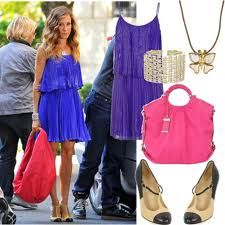 Carrie Bradshaw fashion. Need the dress to go with the shoes!