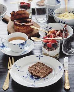 Breakfast in the sun Royal Copenhagen, Breakfast Buffet, Breakfast Time, Danish Interior, Danish Modern, Danish Design, High Tea, Afternoon Tea, Love Food
