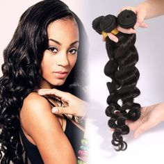 Myfashionhair Free Shipping Top Quality 100% Peruvian Human Virgin Hair 3 pcs 18'' 300g Loose Wave Extension Weaves Natural 1B Color Can Be Dyed