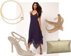 long purple dress, gold necklace, gold clutch, starfish cuff, wedding : bishopandrook.blogspot.com