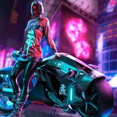 Ultra HD Wallpaper - Cyberpunk, Girl, Motorcycle, for Desktop, Lapto. Cyberpunk 2077, Cyberpunk Girl, Arte Cyberpunk, Cyberpunk Fashion, Arte Sci Fi, Sci Fi Art, Neo Tokyo, Cyberpunk Aesthetic, M Anime