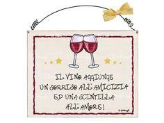 targa bicchieri di vino