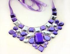bib light purple necklace party prom wedding