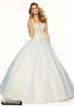 Prom Dresses / Gowns Style 97031: Beaded Satin and Tulle Ballgown http://www.morilee.com/prom/paparazzi/97031